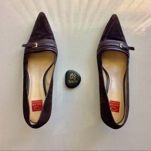 Oscar de la Renta O Bonita Brown Heels Size 10.